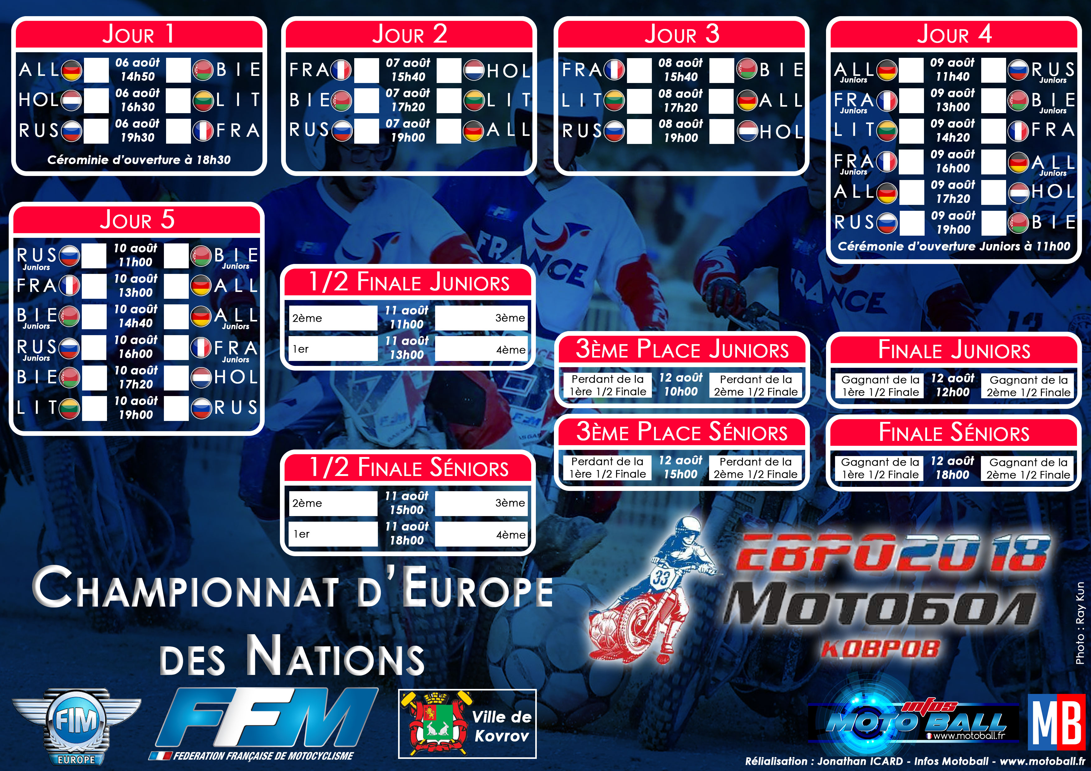 Calendrier Coupe Deurope.2018 Championnat D Europe Des Nations Motoball Fr